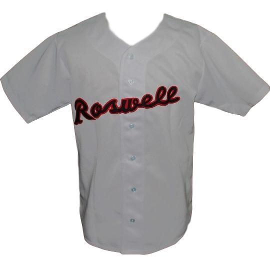 Joe bauman roswell rockets retro baseball jersey 1954 button down grey   1