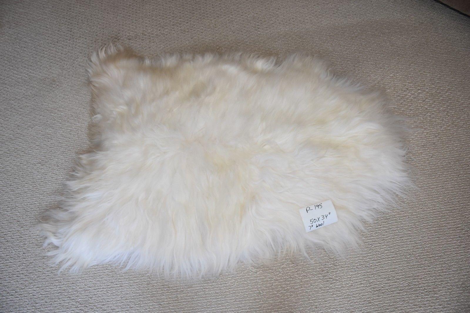 "Large Genuine Natural Bargain Icelandic Sheepskin Rug,Troll Wig,P195 50x34"""