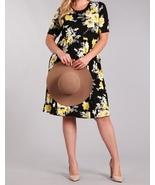 Black Floral Dress, Plus Size Midi Dress, Black Floral Plus Size Dress, ... - €43,23 EUR