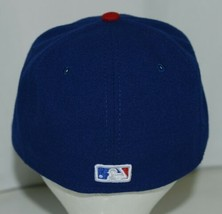 New Era CA40289 Texas Rangers Authentic On Field MLB Fitted Cap Blue Size 7 image 2