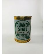 Vintage Quaker State Super Blend Oil 1 Quart Full - $53.46