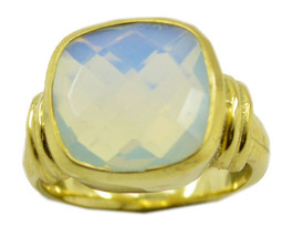 charming Fire Opal CZ Gold Plated White Ring wholesales US 6,7,8,9 - $7.91