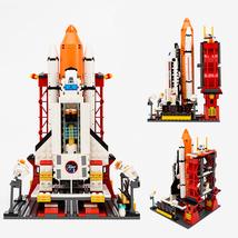 City Spaceport Space The Shuttle Launch Center 679Pcs Bricks Building Bl... - $40.00