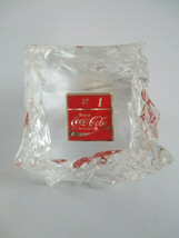 Coca-Cola Vintage Advertising Ice Cube Acrylic #1 Soda Pop Paperweight - $24.75