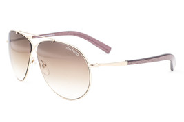 Tom Ford Eva Shiny Gold / Brown Gradient Sunglasses TF374 28F - $155.82
