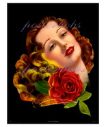 """""""Day Dreams"""", Vintage Art Deco Flapper Pin-Up Beauty 17 x 22 Canvas Giclee Print - $95.00"""