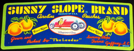 Vintage Race Car! Sunny Slope Crate Label, 1960's  - $3.49