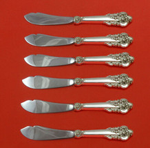 Grande Baroque by Wallace Sterling Silver Trout Knife Set 6pc HHWS Custom Made - $419.00