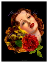 Day Dreams: Rare Art Deco Flapper Pin-Up 13 x 10 inch Poster CANVAS Gicl... - $19.95