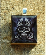 Scrabble Wood Tile Pendant Handcrafted Jewelry Darth Vader Warrior Skull... - $3.00