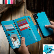 For iPhone 12 Pro Max XR 6 7 8 Leather Flip Magnetic BACK Case cover - $92.72