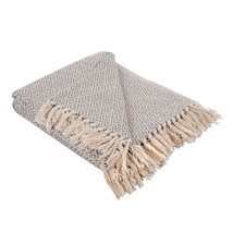Rustic Farmhouse Cotton Diamond Blanket with Throw Fringe For Chair Couc... - $21.25