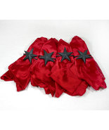 Country Western Iron Star Napkin Rings with Napkins - $18.99