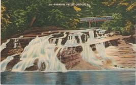 Cresco Pennsylvania PA Paradise Falls 1940 Postcard Linen Metrocraft - $3.53
