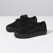 Vans Old Skool V Black/Black Low-Top Kid's Skate Shoes Hook and Loop Clo... - $39.99