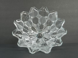 "PRISTINE Mikasa? CRYSTAL LEAF 10-3/4"" CENTER PI... - $47.52"