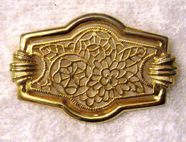 "Filigree Brooch Floral Open Work 2"" Gold Plate VTG Statement Pin Fashion Jewelry - $12.82"