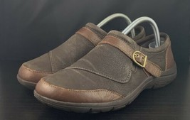 Merrell Dassie Buckle Brown Leather Comfort Shoes Slip-On Flat Women's US Size 9 - $44.54