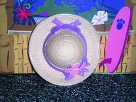 Fisher Price Loving Family Grand Dollhouse Garden Hat Yellow Purple Ribn... - $2.99