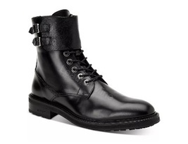 Handmade Black Leather Monk Style Lace Up Ankle High Boots For Men - €150,97 EUR - €167,74 EUR