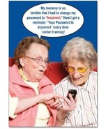 9912Z 'Incorrect Password' - Funny Birthday Greeting Card With 5' X 7' ... - $13.37