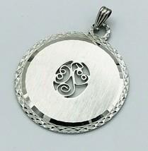 Vintage Sterling Silver LAMODE Diamond Cut Filigree Pendant - $33.66