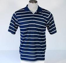 Izod XFG Golf Cool-FX Blue & White Stripe Polo Shirt Medium M NWT - $40.83
