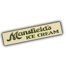 Mansfield Ice Cream Old Sign Design 4x18 in Reproduction Aluminum Street... - $17.77