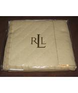 Ralph Lauren Rue des Artistes 1 BEIGE QUILT STANDARD Sham 20 X 26 COTTON... - $89.97