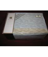 MAISON DE VIE LAWRENCE PERCALE KING SHEET SET TWILIGHT BLUE COTTON BLEND... - $89.97