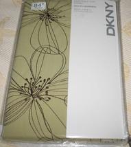 "Dkny Soho Garden Floral Wasabi Green Brown Embroidery 1 Panel Curtain Drape 84"" - $69.97"