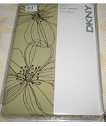 DKNY SOHO GARDEN FLORAL WASABI GREEN BROWN EMBROIDERY 1 PANEL CURTAIN DR... - $69.97