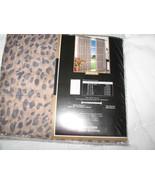 ANIMAL PRINT LEOPARD BROWN VOILE 1 PANEL CURTAIN DRAPE 59 x 95 - $24.97