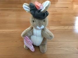 Eden Benjamin Bunny Plush Beatrix Potter Peter Rabbit Hare Flower Hat Br... - $20.95