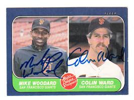 1986 Fleer Débutant Prospect Carte Signé Colin Ward Mike Woodward Géants #645 - $59.90