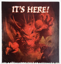 """Circa 1990 Dungeons and Dragons TSR """"IT'S HERE!"""" Print Ad WARRIOR BATTLE... - $9.21"""