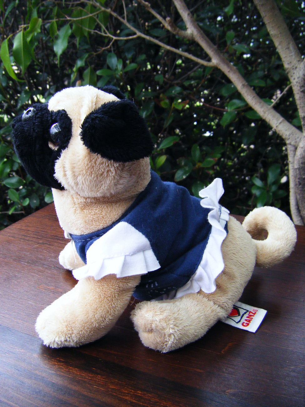 Ganz Webkinz - Pug HM105 -  EUC with Dress Bonanza