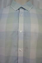 Alfani Regular Fit Mens Casual Shirt Sz M Whisper Jade Green Plaid Butto... - $29.62