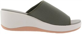 Cloudsteppers™ Clarks Step Cali Bay Wedge Slide Dusty Olive 9M New 650-646 - $55.42