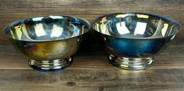 "Pair Of Sheridan Silverplate 8"" Vintage Matching Serving Bowls - $24.60"