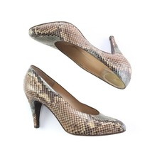 Bruno Magli Faux Snake Skin Classic Career Pumps Heels Shoes Womens 7.5 ... - $44.40