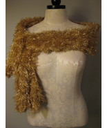 Magic Scarf Dressy Gold Soft And Comfy - $8.00