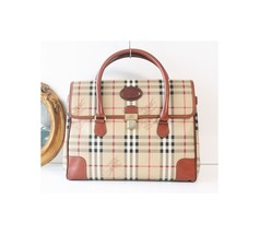 Burberry Haymarket Check Large Tote handbag - $720.00