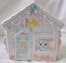 Vintage Baby Nursery House Planter # C-8056 Lambs, Elephants, Birds, Bears - $29.99