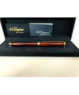 Vintage S.T. Dupont Classic Chinese Lacquered & Sterling Silver Roller b... - $236.97