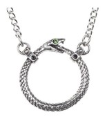 Sophia Serpent Ouroboros Infinity Snake Pendant Necklace Alchemy Gothic ... - $21.95