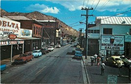 Vintage Chrome Postcard NV C401 C Street Virginia City Street Old Cars a... - $6.00