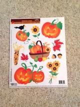 Static Window Clings New Halloween Autumn Harvest Jack-o-Lantern New - $8.42