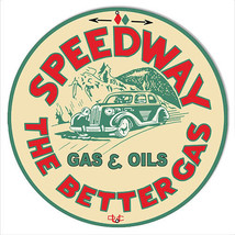 """Speedway Motor Oil Reproduction Garage Shop Metal Sign 14""""x14"""" Round - $23.76"""