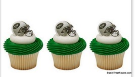 New York Jets CupCake Cake Topper 12 18 24 Favors Decoration NFL Footbal... - $6.88+